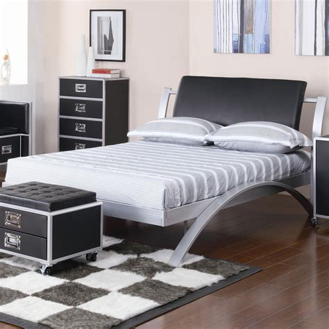 platform full bed leclair full metal platform bed beds