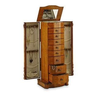jewelry armoire sears hives honey louis xvi honey oak jewelry armoire home