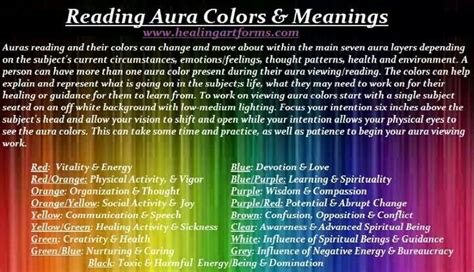 aura colors meaning aura colors meanings spiritual awakening