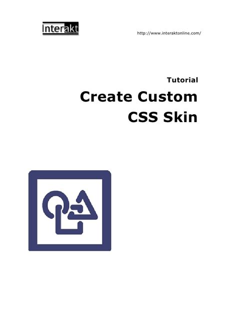 tutorial css skin tutorial create custom css skin