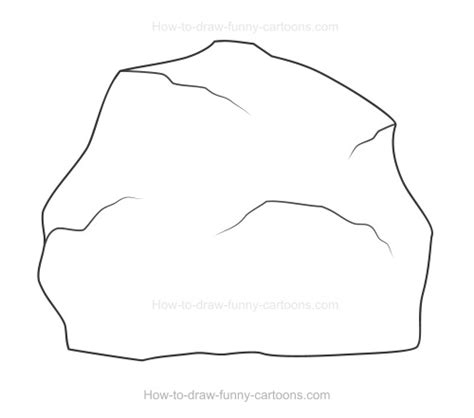the rock template how to draw a rock