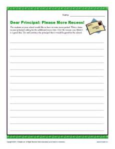 Longer Recess Persuasive Essay by Dear Principal More Recess Sentence Structure Spelling Words And Writing Prompts