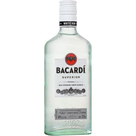 Code Bacardi Bottle White 080480015602 upc bacardi superior white rum 375ml glass bottle