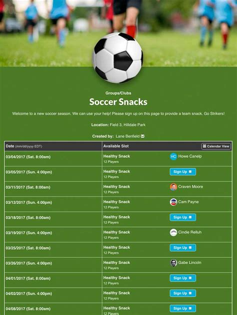 t ball snack schedule template maths equinetherapies co