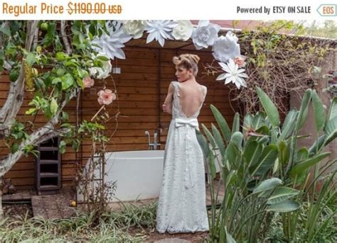 christmas in july sale low back wedding dress low back