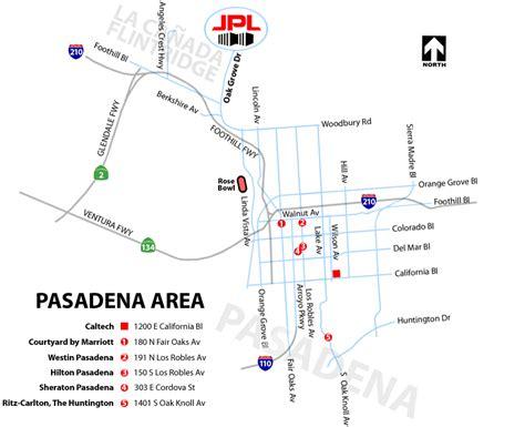 map of california pasadena directions
