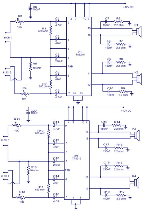 Power Lifier Phase Audio 4 channel power lifier circuit diagram wiring diagram