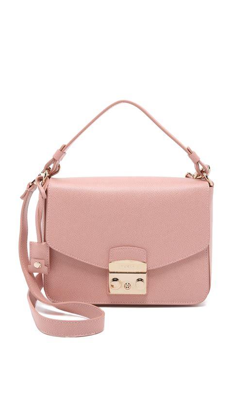 furla metropolis small shoulder bag in pink lyst