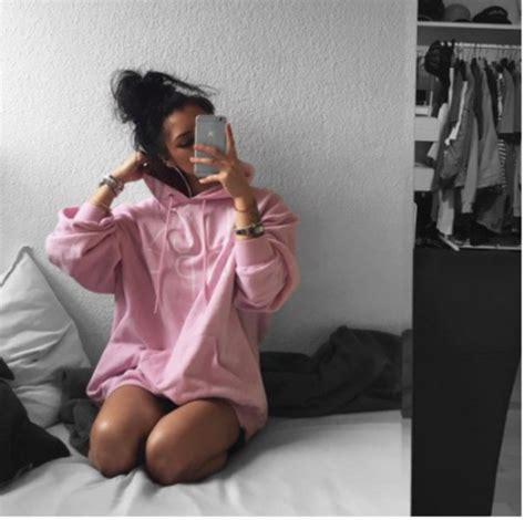 Hoodie Instagram 313 Clothing sweater girly girly wishlist instagram pink pink hoodie hoodie wheretoget