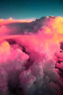 color clouds sky paradise pink clouds colors