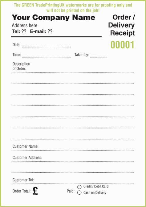 receipt pads 163 35 using free receipt pads templates