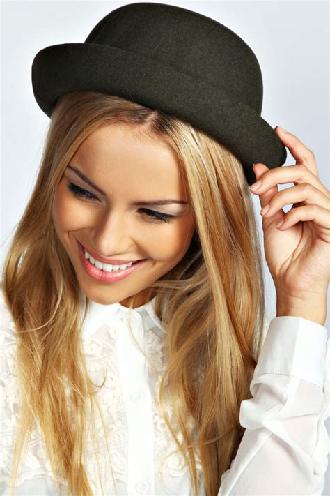 boohoo womens bowler hat one size