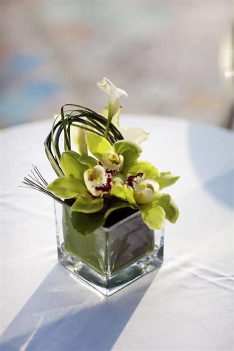 Eletragesi Cymbidium Orchid Centerpieces Images Real Weddings Angela Orchid Centerpieces