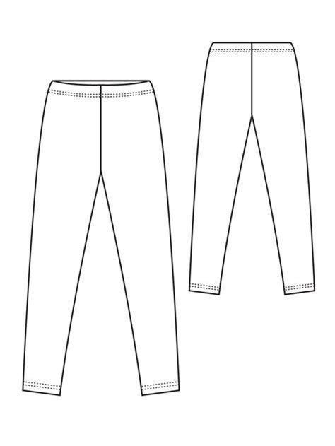 leggings pattern free download knit leggings sloper sewing patterns burdastyle com