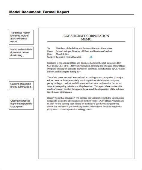 24 Sle Formal Reports Sle Templates Formal Report Template