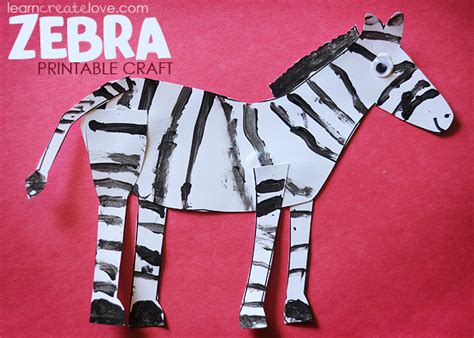 zebra crafts for printable zebra craft