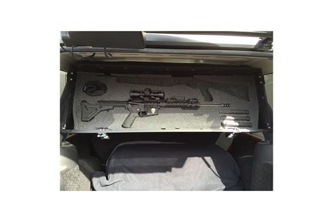 2013 Jeep Wrangler Unlimited Hardtop Storage by Grenadeacorp Sub Roof Concealed Locking Storage System 4