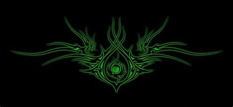 wallpaper tribal pattern green green fire tribal by wizardx on deviantart
