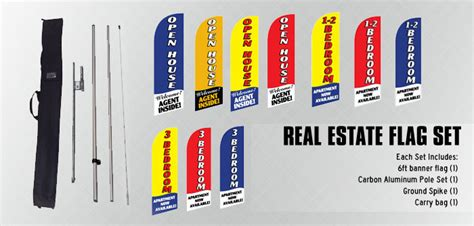 real estate open house flags real estate feather flags set open house agent inside