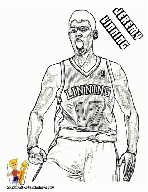 coloring pictures of nba players nba free coloring pages