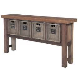 Kitchen Console Table With Storage Farmhouse Kitchen Storage Console With Baskets