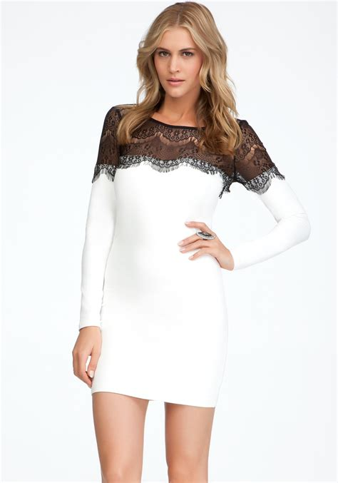 Bebeo More Beautiful Clothes From by Bebe Eyelash Lace Bodycon Exclusive In Black Lyst