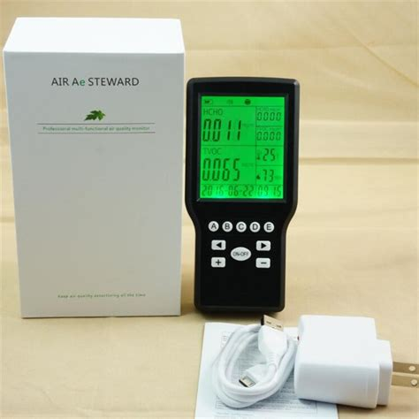 free shipping hcho detector dust particle counter air quality monitoring tvoc detector