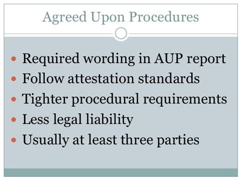 Service Agreement Vs Engagement Letter Aup Vs Consulting Engagements