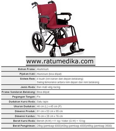Kursi Roda Aluminium kursi roda aluminium travelling ky 871lb