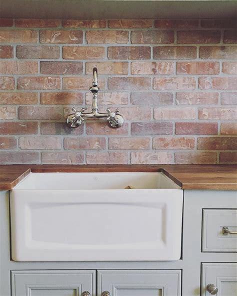 Brick Tile Kitchen Backsplash Beautiful Homes Of Instagram Home Bunch Interior Design Ideas