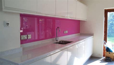 white kitchen with pink splashback splashbacks gallery 1