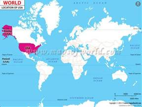 united states on world map where is usa where is the united states of america located