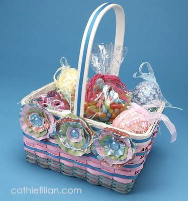 How To Make Paper Flower Basket - cathie filian diy easter basket with torn paper flowers
