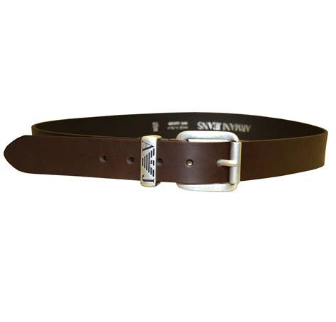 armani brown leather belt