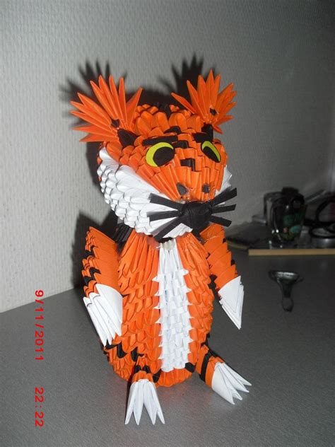 3d Origami Tiger - 3d origami tiger by nightpotter on deviantart