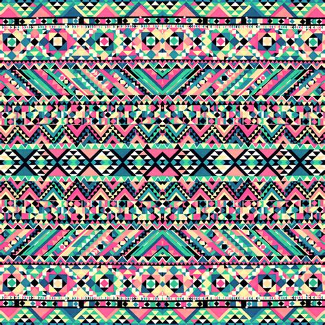 Girly Aztec pink turquoise girly aztec andes tribal pattern print