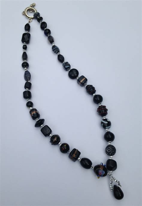 into jewelry mixed glass black with pendant trip into light jewelry