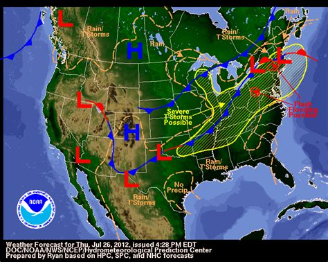 weather map of us with fronts severe weather and cold fronts wildcard weather
