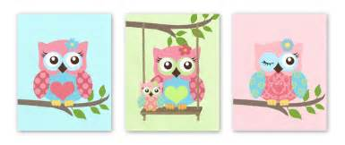 Nursery Owls Decor Owls Nursery Baby Nursery Set Of 3 Prints
