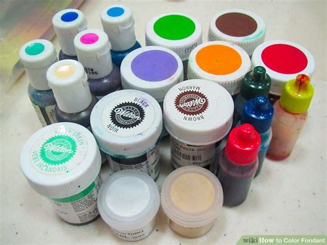 fondant colors 4 ways to color fondant wikihow