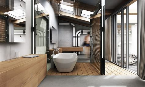 Home Interior Design Bathroom Modern Industrial Style Interior Design