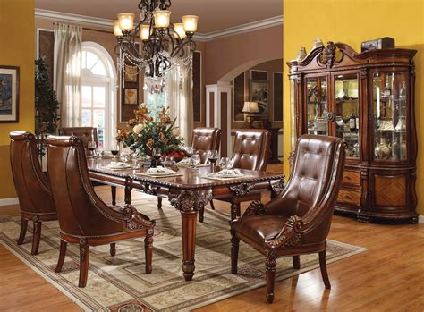 ornate dining table greyson traditional 5 pc ornate 80 quot 120 quot dining table set
