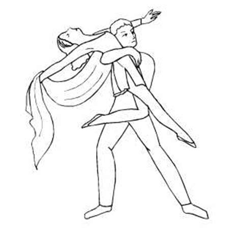 boy dancer coloring page boy getting partner up in air coloring page