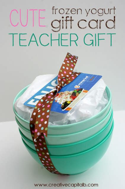 Unique Gift Card Presentation - capital b simple froyo card teacher gift