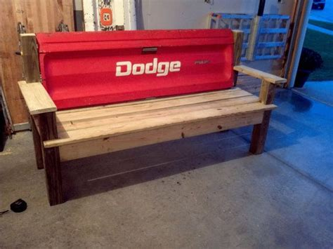 tail gate bench red dodge tailgate bench my life with my husband pinterest