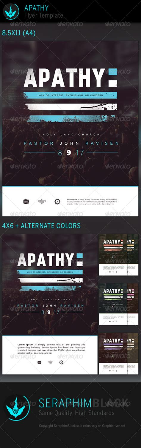 Apathy Church Flyer Template Graphicriver Graphicriver Iii Flyer Template
