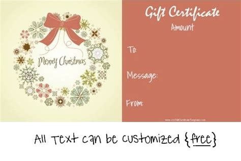 printable xmas gift vouchers 17 best images about christmas gift certificates on