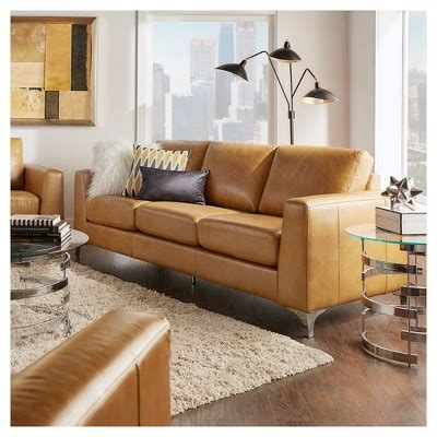 Anson Sofa by Anson Leather Sofa Camel Inspire Q Products Leather