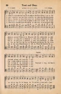 Country Decor Websites Antique Hymn Book Page Trust Amp Obey Sonday Knick Of Time