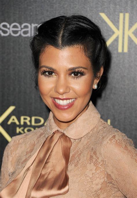 kim kardashian lookbook style evolution kourtney kardashian false eyelashes kourtney kardashian